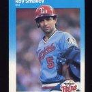 1987 Fleer Baseball #552 Roy Smalley - Minnesota Twins