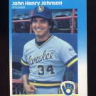 1987 Fleer Baseball #347 John Henry Johnson - Milwaukee Brewers