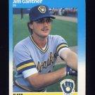 1987 Fleer Baseball #345 Jim Gantner - Milwaukee Brewers