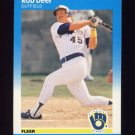 1987 Fleer Baseball #344 Rob Deer - Milwaukee Brewers