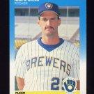 1987 Fleer Baseball #341 Mark Clear - Milwaukee Brewers
