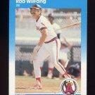 1987 Fleer Baseball #094 Rob Wilfong - California Angels