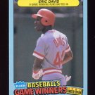 1987 Fleer Game Winners Baseball #11 Eric Davis - Cincinnati Reds