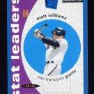 1995 Collector's Choice SE Baseball #137 Matt Williams STL - San Francisco Giants