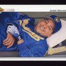 1992 Upper Deck Baseball #633 Jaime Navarro - Milwaukee Brewers