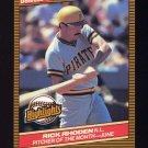 1986 Donruss Highlights Baseball #20 Rick Rhoden - Pittsburgh Pirates