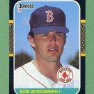 1987 Donruss Baseball #652 Rob Woodward - Boston Red Sox