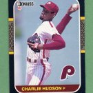 1987 Donruss Baseball #630 Charles Hudson - Philadelphia Phillies