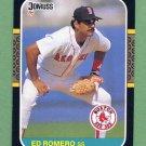 1987 Donruss Baseball #606 Ed Romero - Boston Red Sox