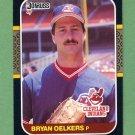 1987 Donruss Baseball #596 Bryan Oelkers - Cleveland Indians