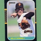 1987 Donruss Baseball #573 Kelly Downs RC - San Francisco Giants