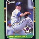 1987 Donruss Baseball #568 Mark Langston - Seattle Mariners