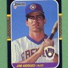 1987 Donruss Baseball #495 Jim Adduci - Milwaukee Brewers