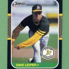 1987 Donruss Baseball #472 Dave Leiper - Oakland A's