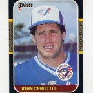 1987 Donruss Baseball #442 John Cerutti - Toronto Blue Jays Ex