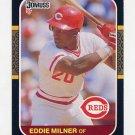 1987 Donruss Baseball #433 Eddie Milner - Cincinnati Reds