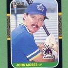 1987 Donruss Baseball #393 John Moses - Seattle Mariners