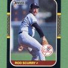 1987 Donruss Baseball #374 Rod Scurry - New York Yankees