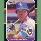 1987 Donruss Baseball #372 Charlie Moore - Milwaukee Brewers