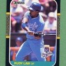 1987 Donruss Baseball #343 Rudy Law - Kansas City Royals