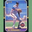 1987 Donruss Baseball #323 Sid Fernandez - New York Mets