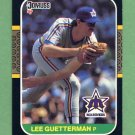 1987 Donruss Baseball #322 Lee Guetterman - Seattle Mariners Ex