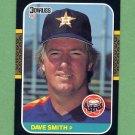 1987 Donruss Baseball #308 Dave Smith - Houston Astros Vg