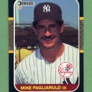 1987 Donruss Baseball #298 Mike Pagliarulo - New York Yankees