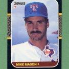 1987 Donruss Baseball #284 Mike Mason - Texas Rangers