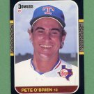 1987 Donruss Baseball #259 Pete O'Brien - Texas Rangers