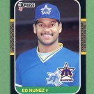 1987 Donruss Baseball #243 Ed Nunez - Seattle Mariners