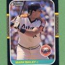 1987 Donruss Baseball #235 Mark Bailey - Houston Astros ExMt