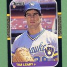 1987 Donruss Baseball #232 Tim Leary - Milwaukee Brewers