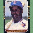 1987 Donruss Baseball #223 Curtis Wilkerson - Texas Rangers
