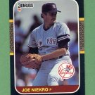 1987 Donruss Baseball #217 Joe Niekro - New York Yankees