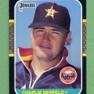 1987 Donruss Baseball #209 Charlie Kerfeld - Houston Astros