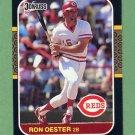 1987 Donruss Baseball #206 Ron Oester - Cincinnati Reds