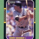 1987 Donruss Baseball #205 Terry Kennedy - San Diego Padres