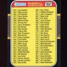 1987 Donruss Baseball #200 Checklist 134-239