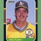 1987 Donruss Baseball #178 Eric Plunk - Oakland A's