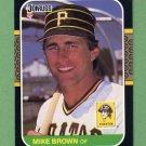 1987 Donruss Baseball #168 Mike C. Brown - Pittsburgh Pirates