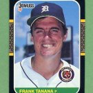 1987 Donruss Baseball #152 Frank Tanana - Detroit Tigers