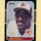 1987 Donruss Baseball #150 Mike Young - Baltimore Orioles Ex