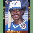 1987 Donruss Baseball #121 Jesse Barfield - Toronto Blue Jays