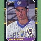 1987 Donruss Baseball #109 Bill Wegman - Milwaukee Brewers