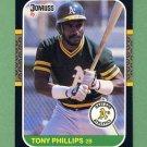 1987 Donruss Baseball #103 Tony Phillips - Oakland A's