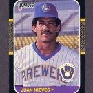 1987 Donruss Baseball #090 Juan Nieves - Milwaukee Brewers