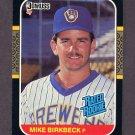 1987 Donruss Baseball #033 Mike Birkbeck RC - Milwaukee Brewers