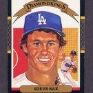 1987 Donruss Baseball #026 Steve Sax DK - Los Angeles Dodgers