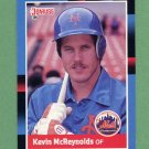 1988 Donruss Baseball #617 Kevin McReynolds - New York Mets